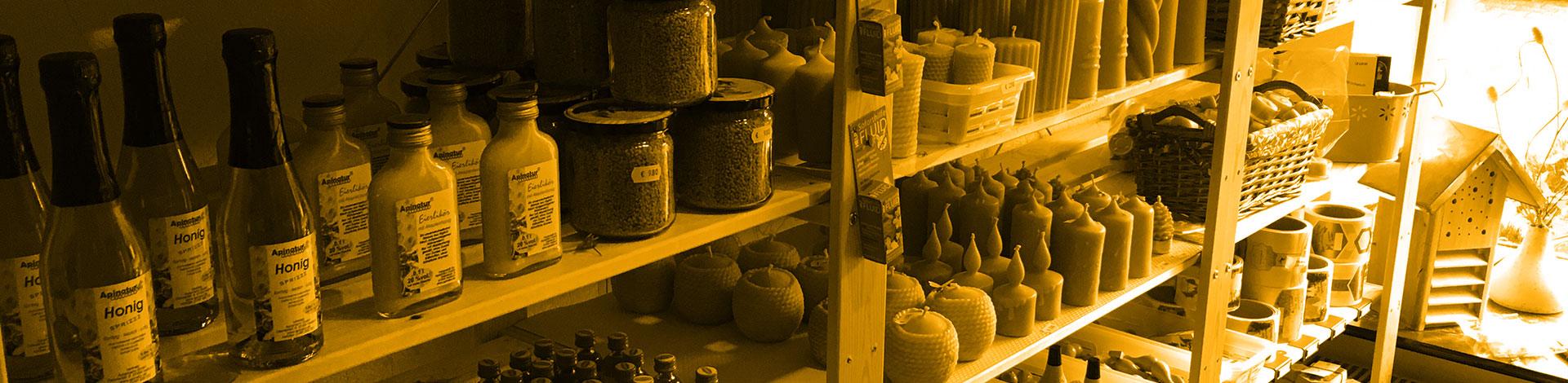Honigprodukte im Laden